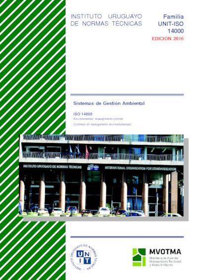 Portada de la edición especial del compendio de normas UNIT-ISO 14000:2004