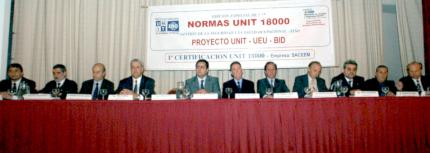 Fotografía de los oradores del evento