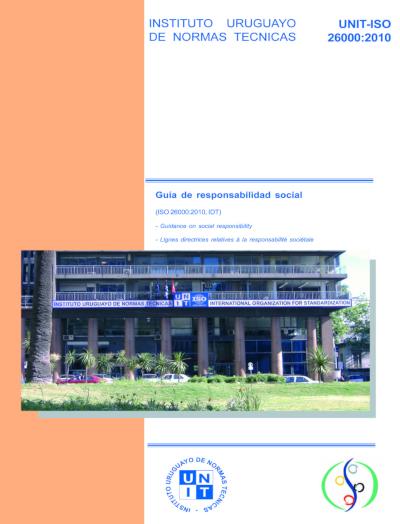 Tapa de la edición especial de la norma UNIT-ISO 26000:2010