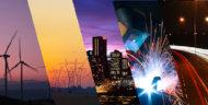 Collage con fotografías sobre energía
