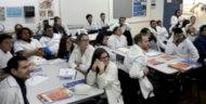 Alumnos de UTU asistiendo a la charla